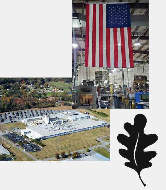 image of us flag in warehouse