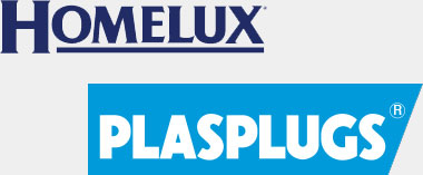Homelux Plasplugs logos